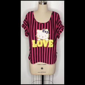 Hello Kitty Graphic Sanrio Cut-Out Top
